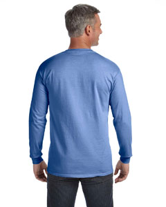 abf34c1c Comfort Colors Adult Heavyweight RS�Long-Sleeve Pocket T-Shirt  - Flo Blue - Customize & Buy – Brand RPM