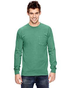 Comfort Colors Adult Heavyweight RS�Long-Sleeve Pocket T-Shirt - Island Green