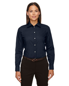 Devon & Jones Ladies' Crown Woven Collection� Solid Broadcloth - Navy