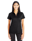 Devon & Jones Ladies' CrownLux Performance� Plaited Polo - Black