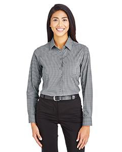 Devon & Jones Ladies' CrownLux Performance� Tonal Mini Check Shirt - Graphite