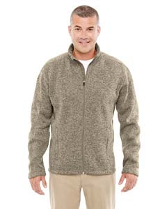 Devon & Jones Men's Bristol Full-Zip Sweater Fleece Jacket - Khaki Heather
