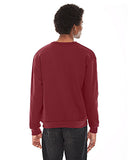 American Apparel Unisex Flex Fleece Drop Shoulder Pullover Crewneck - Cranberry