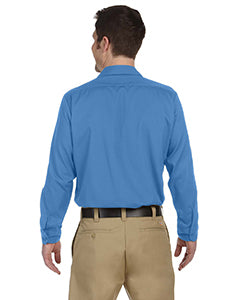 Dickies Men's 4 25 oz  Industrial Long-Sleeve Work Shirt - Light Blue