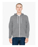 American Apparel Unisex Salt And Pepper Hooded Zip Sweatshirt - Peppered Grey