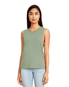 Next Level Ladies' Festival Muscle Tank - Stonewash Green