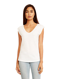 Next Level Ladies' Festival Sleeveless V - White