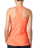 Next Level Ladies' Burnout Racerback Tank - Neon Orange