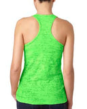 Next Level Ladies' Burnout Racerback Tank - Neon Green