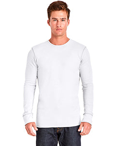 Next Level Adult Long-Sleeve Thermal - White/ Gray