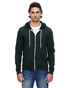American Apparel Unisex Triblend Full-Zip Hoodie - Tri Black