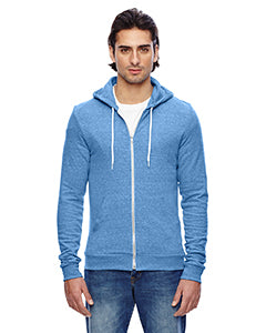 American Apparel Unisex Triblend Full-Zip Hoodie - Tri Blue