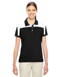 Team 365 Ladies' Victor Performance Polo - Black