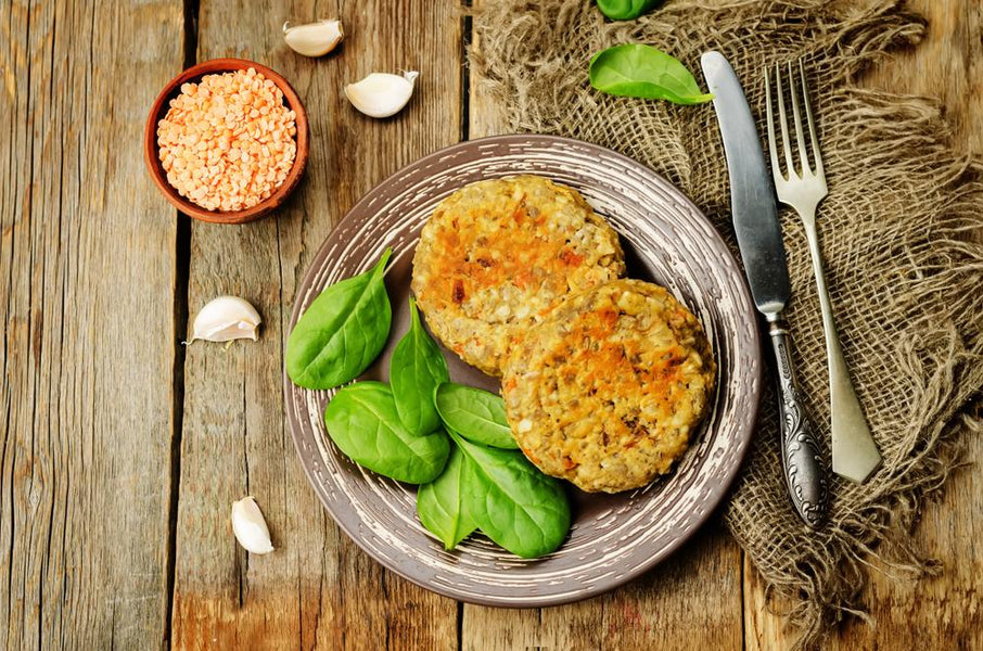 Red Lentil, Parsley & Spring Onion Fritters