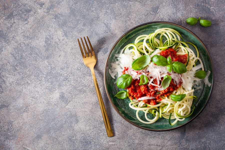 Courgetti With Tomato, Parma Ham & Basil