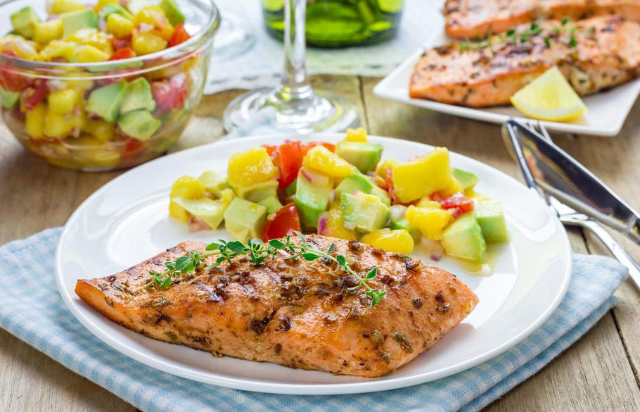 Grilled Spicy Salmon with Avocado Salsa