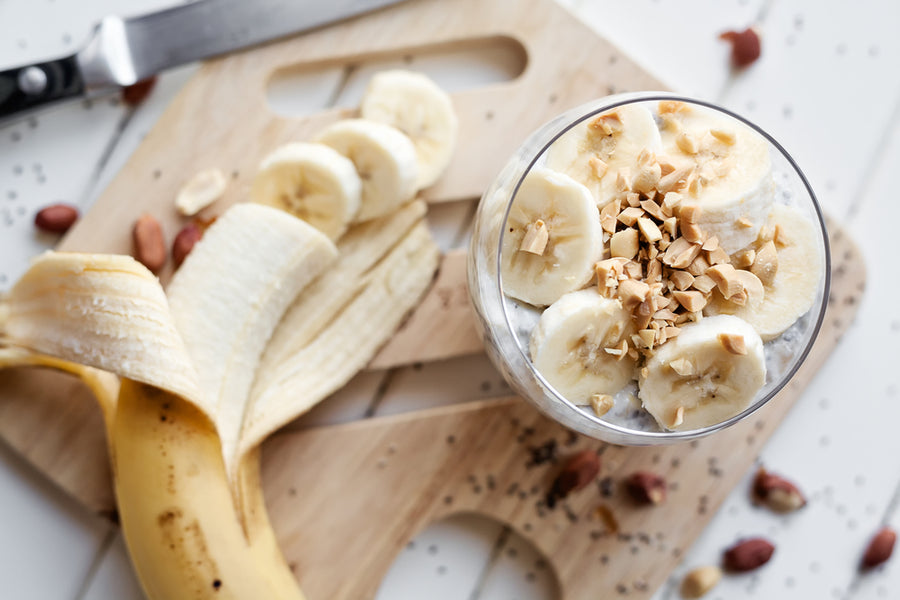 Crunchy Banana Yogurt