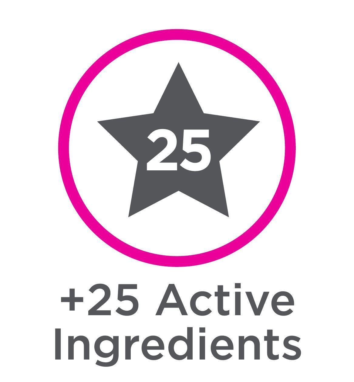 25 active ingredients