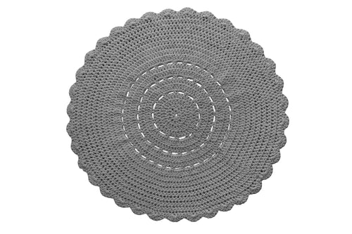 Doily rug GREY - Zuri House