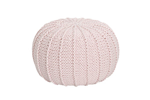 Knitted pouffe POWDER PINK - Zuri House