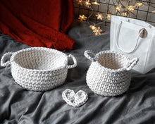Set of 2 crochet baskets - Zuri House