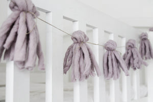 Tassel garland ROSE QUARTZ - Zuri House