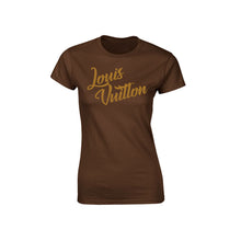 Love LV Graphic Brown Ladies T-Shirt
