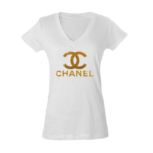 Chanel Inspired Ladies White Shirt (Various Options)