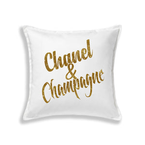Chanel & Champagne Pillow (Various Colors)
