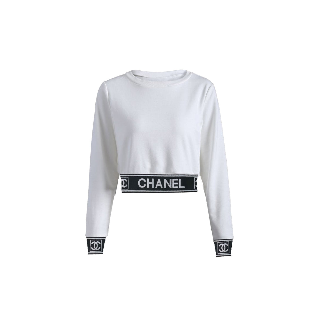 Chanel Ladies Crop Top (White)