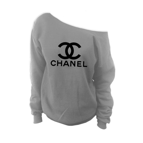 Chanel Off Shoulder Sweatshirt (Various Colors)