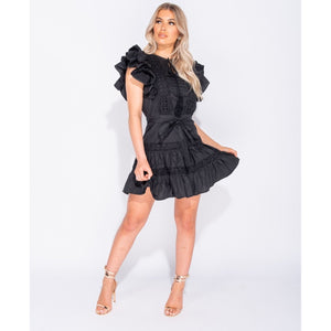 Delilah Lace Black Dress