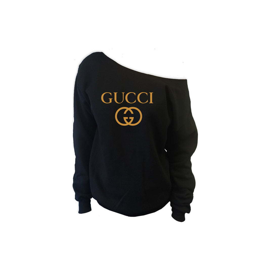 Love Gucci Off Shoulder Sweatshirt (Various Colors)