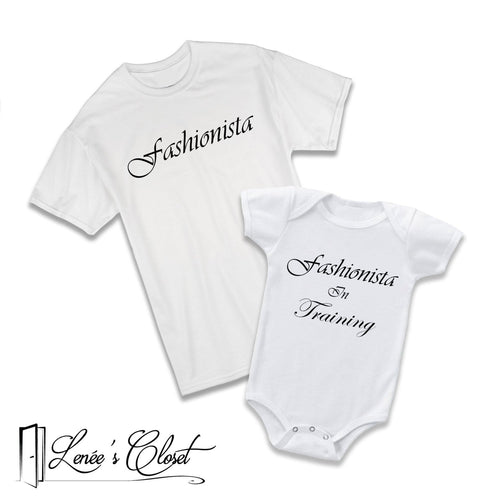 c6c271fbbd7f6 Mommy and Me Fashionista Shirt and Onesie Set