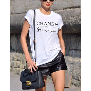 Love Chanel & Champagne Womens Shirt