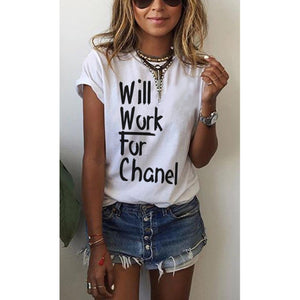 Will Work for Chanel Tee (Various Colors) (Sale)