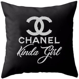 Chanel Kinda Girl Pillow Cover (Various Colors)