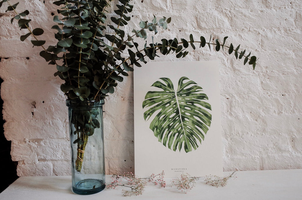 Monstera Living Pattern Print