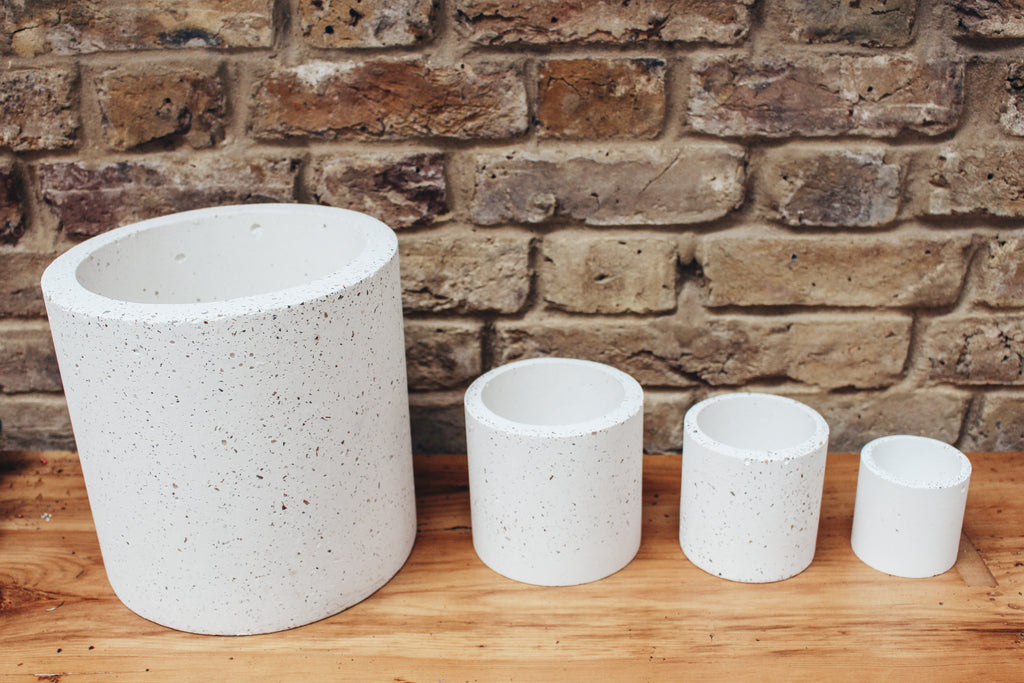 Speckled Concrete Planter - Large