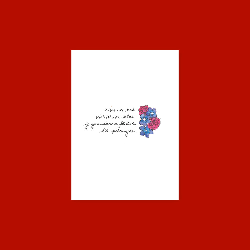 Greeting Card - Roses Are Red