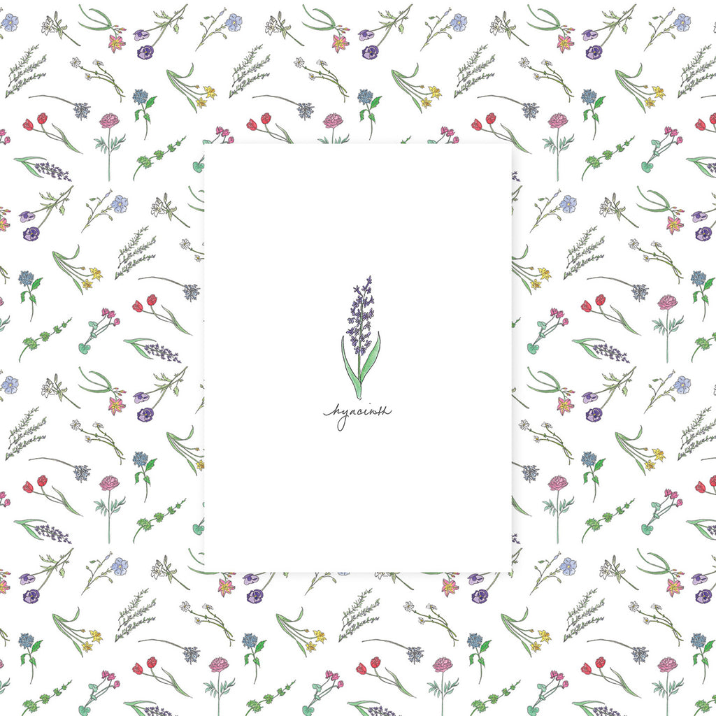 "Greeting Card - ""Sympathy"" (Hyacinth)"