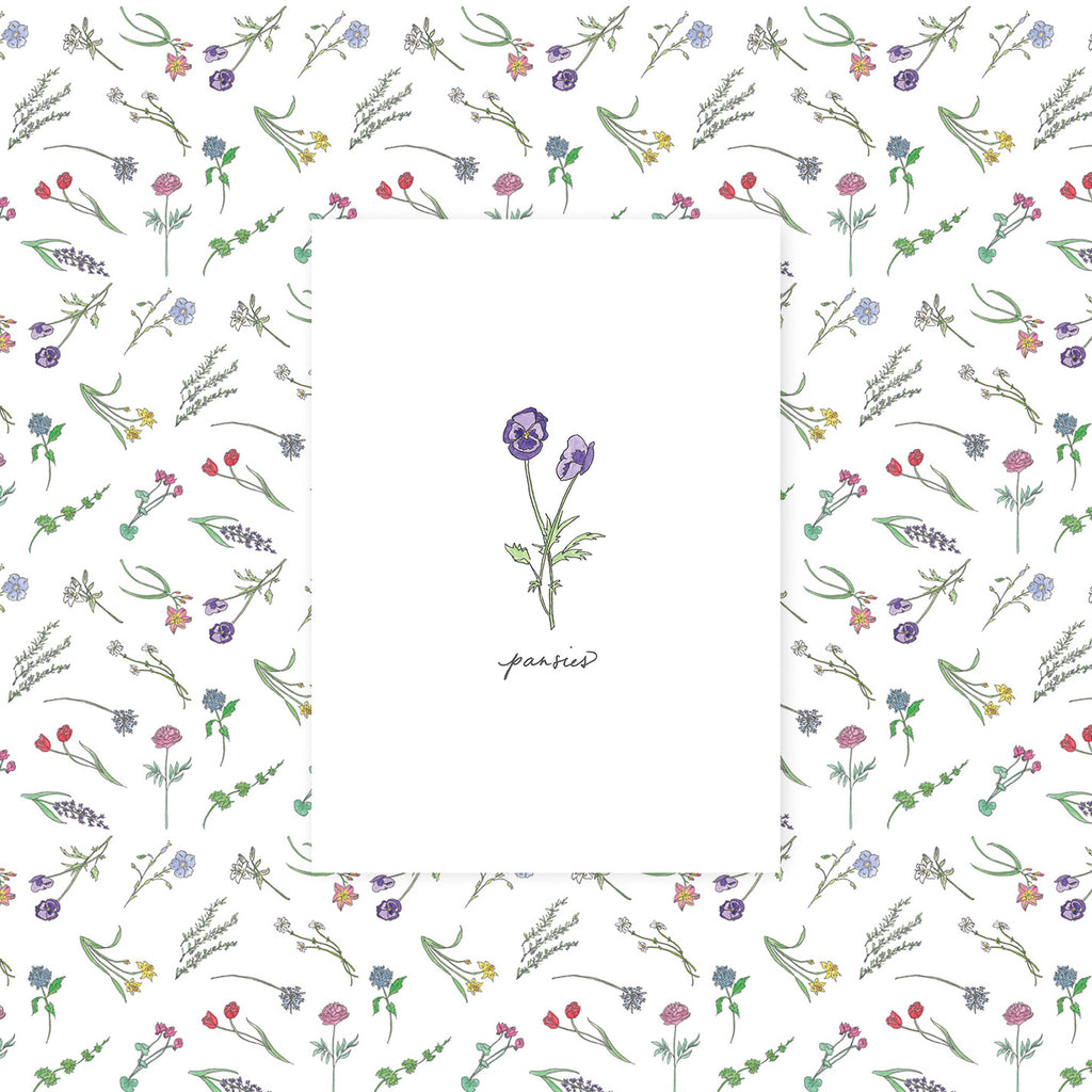 "Greeting card - ""Get Well"" (Pansy)"