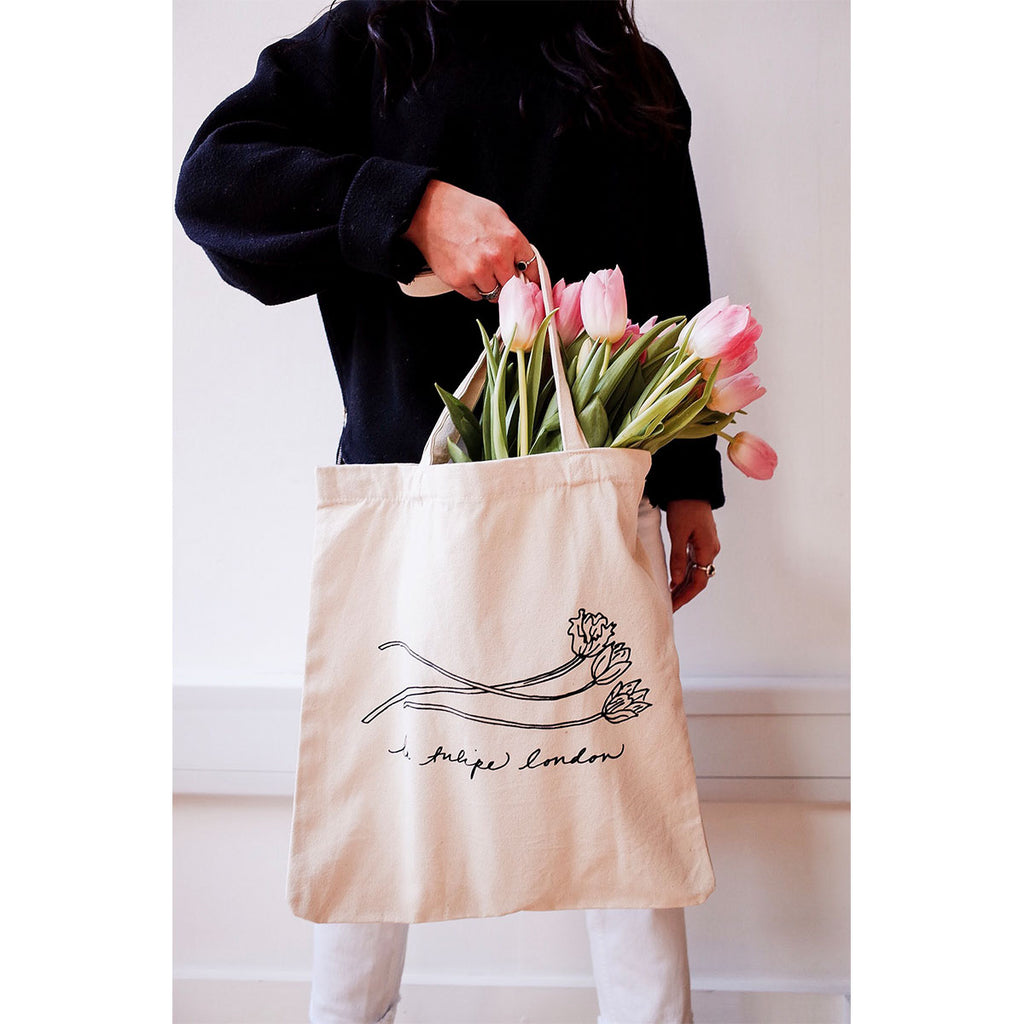 Les Tulipes Canvas Tote Bag