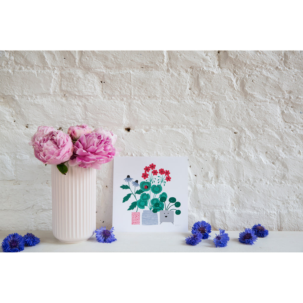 Flower Pots Holly Maguire Print