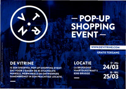 De Vitrine - PopUp Shopping Event