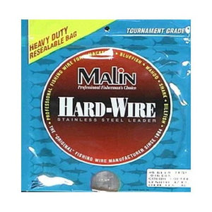 Malin Single Strand Stainless Steel Leader Coffee 42' Coil - .024 Diameter - 131LB