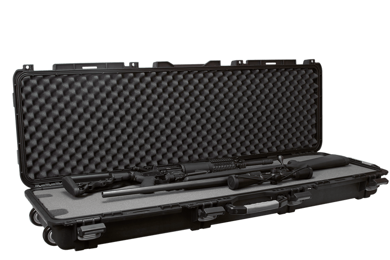 Plano Rifle Case Mil-Spec Double Long Gun With Wheels Black