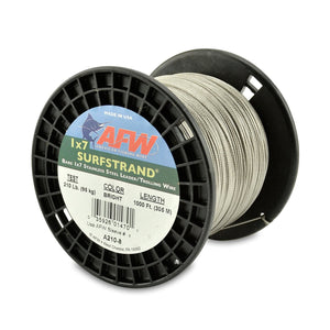 "AFW / Hi-Seas Surfstrand Bare 1X7 Stainless Steel 30' Camo 30Lb .012"" Diameter"