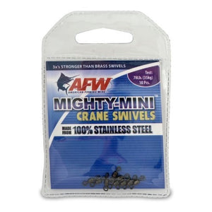 AFW Mighty Mini SS Crane Swivel 10 Pack Black 100Lbs