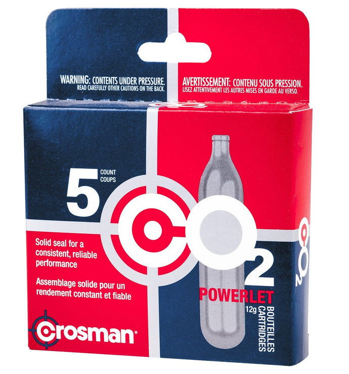 Crosman Co2 Powerlets 5 Per Pack C02 Cartridge